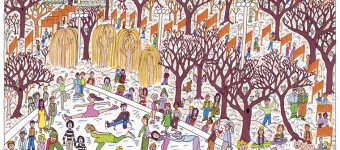 James Rizzi The_Gates_Of_Central_Parks_Heaven