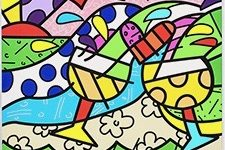 Romero Britto, WINE COUNTRY -YELLOW_DPC_LR_1 (2) 2