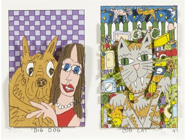 """""""Big Dog-Big Cat"""", 3D-Construction, 1997"""