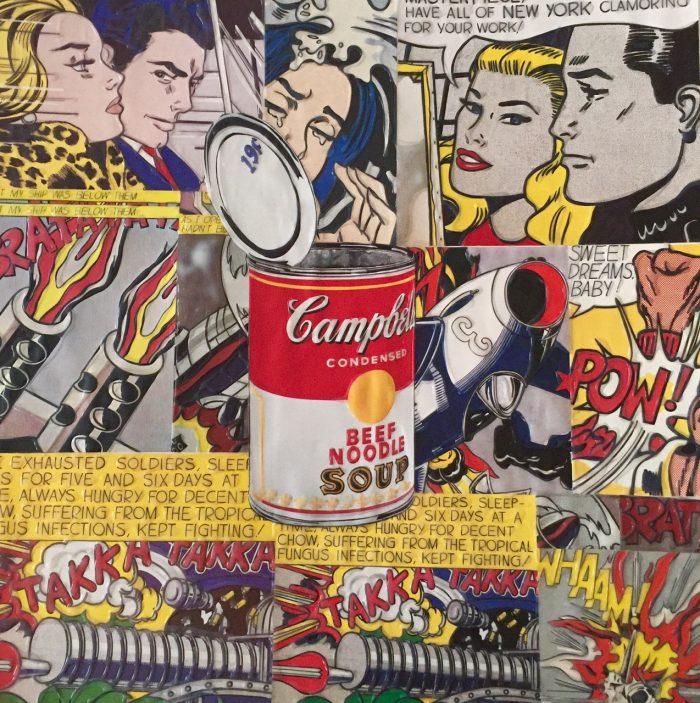 """Original Pop Vintage Collage"" # 31, 45 x 45 cm"