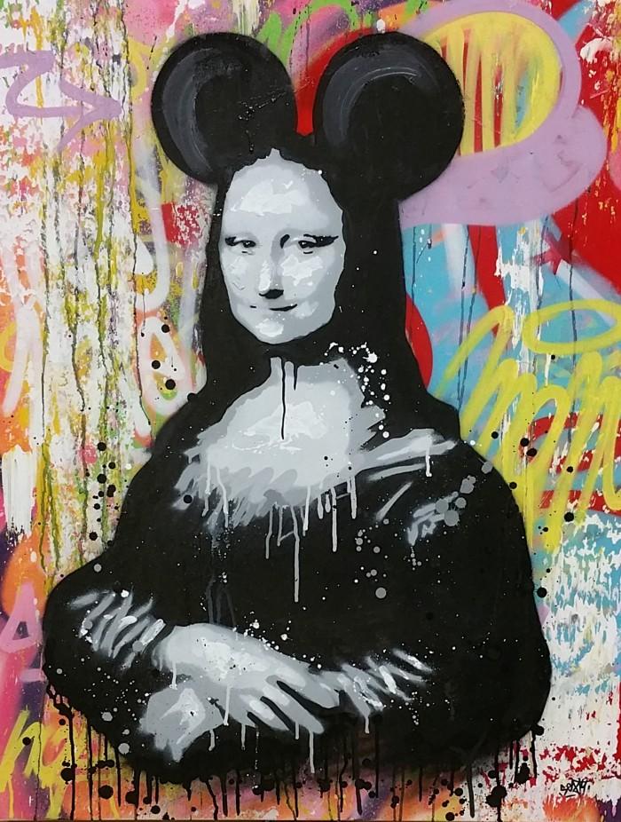 """Mona Lisa""; 100 x 81 cm"