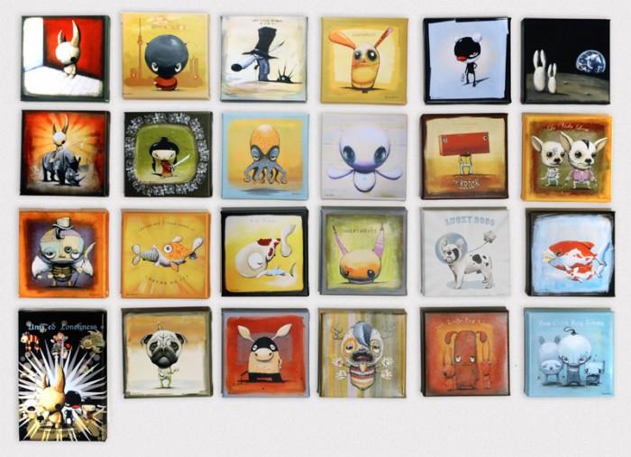 """Die beliebten Kunstdrucke im exklusiven Format 20 x 20 cm mit """"CH Special Edition"""" Aufdruck auf der Rückseite"""