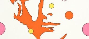 """""""Face orange"""", Serigraphie auf Vlies, 64 x 53 cm"""
