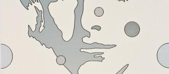 """""""Face silver"""", serigraph, non woven textile, 64 x 53 cm"""