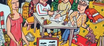 «Nachts am Tisch», serigraph, 100 x 70 cm