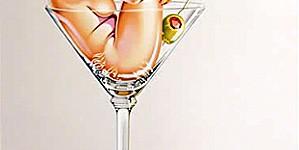 «Martini Miss», original lithograph, 70 x 100 cm