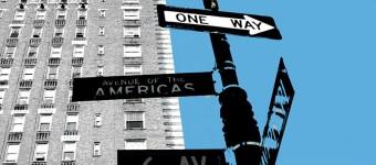 """""""NY 6 Ave"""", Mixed Media on canvas, 90 x 130 cm"""